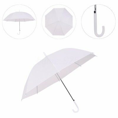 AU POST White Party Umbrella Automatic Parasol PVC Dome Wedding Rain Sun Friends