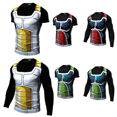 Dragon Ball Z Compression Workout T-shirt Cosplay Fitness Cycling Jersey Costume