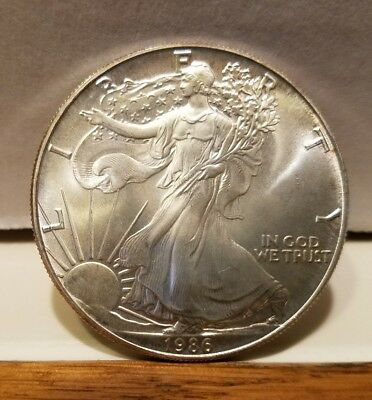 1986 American Silver Eagle 1oz One Dollar Silver  Coin .999 key date RARE!