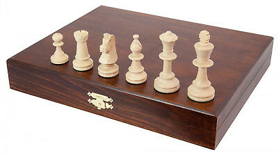 Staunton Design Deluxe Boxed Chess Pieces Size 5 Hand Crafted Wooden Case Box