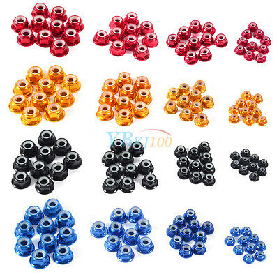 10Pcs M2 M3 M4 M5 Nylon Insert Self-Locking Nuts Aluminum Alloy Hex Lock Nut New