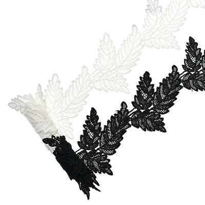 2 Yards Vintage Crochet Lace Edge Trim 3D Leaves Hollow Sewing Craft DIY Wedding