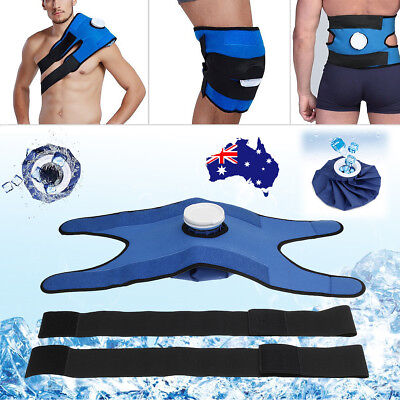 Reusable Ice Bag Pack Pain Relief Cold Therapy + straps +Wrap For Broad Injuries