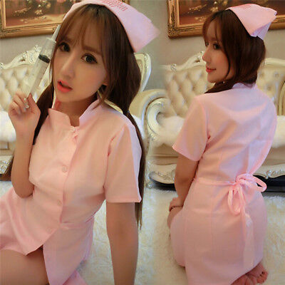 Nurse Uniform Sexy Womens Lingerie Dress Panty  Cosplay Role Play Costume FT