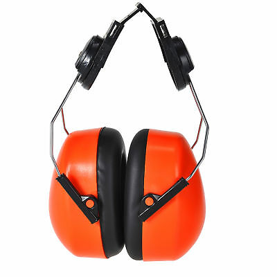 Portwest PS47 Clip on Ear Defenders for PS53 & PW55 Helmets Orange or Yellow