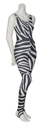 KDC011 Zebra Animal Print Sleeveless Dance Catsuit Unitard By Katz Dancewear