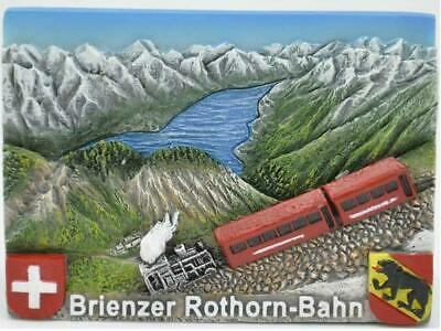 Brienzer Rothorn Bahn Brienz Schweiz Poly Magnet Souvenir Switzerland,Neu