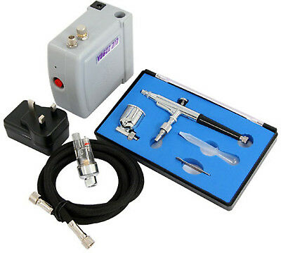 12V DC Air Compressor and Dual Action Air Brush Kit