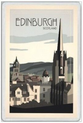Edinburgh - Jumbo Fridge Magnet - Scotland Scottish Scots Arthurs Seat Highlands