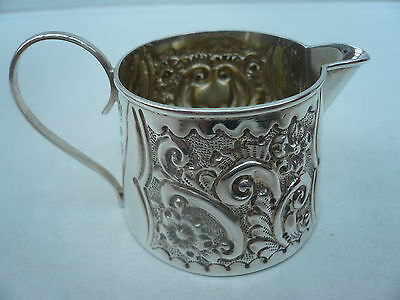 Silver Cream Jug, Sterling, Antique, English, Tableware, Hallmarked 1900