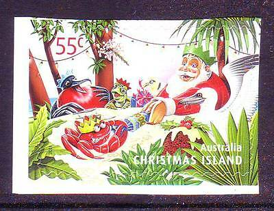 CHRISTMAS ISLAND  2011 CHRISTMAS 55c P&S MNH  - Santa Claus & Red Crabs