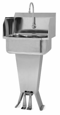 Sani-Lav Stainless Steel Hand Sink, With Faucet, Floor Mounting Type, Silver -