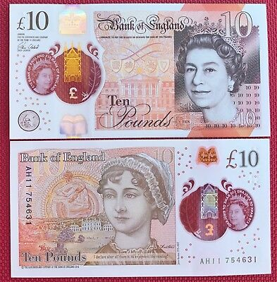 Great Britain  Banknotes £10 Pound 2017 Polimer P-New Unc.