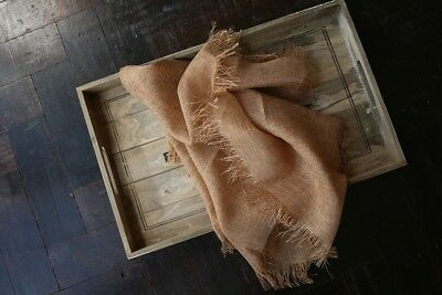 Soft Burlap Look Layer Blanket, Tassel Basket Filler Stuffer, Newborn Photo Prop