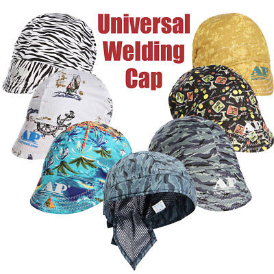 ☆ Protective Scaf Sweat Absorption Elastic Welding Cotton Hat Cap Proctor