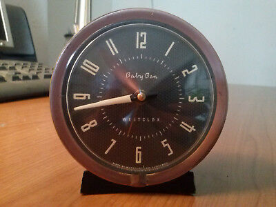 Vintage 1950s Baby Ben Westclox Alarm Clock  Style 7 1956 Working Well