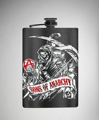 """""""SONS OF ANARCHY"""" 64 Oz Stainless Steel Black Flask"""