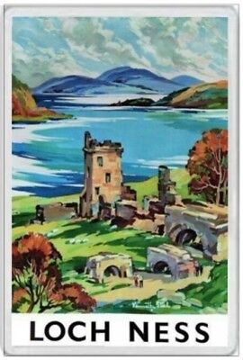 Loch Ness - Jumbo Fridge Magnet - Nessie Monster Scotland Scottish Highlands