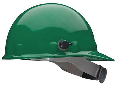 "Fibre-Metal Front Brim Hard Hat, Green, Hat Size: 6-1/2 to 8"" - E2QRW74A000"