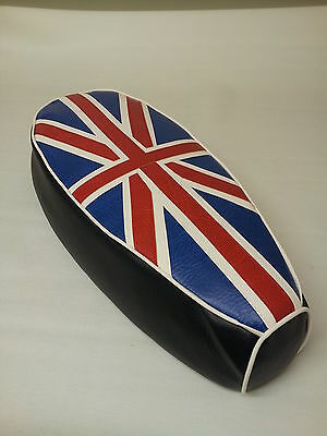 AJS Modena  Lexmoto milano Seat Cover Union Jack Red/White/Blue
