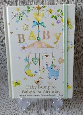 Baby Bump To Baby's 1St Birthday Record Book Diary Keepsake Pregnancy Journal