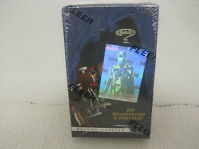 New Sealed 1995 Fleer BATMAN FOREVER Trading Cards Complete 36 Count Box