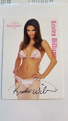 Orig. Kristen Williams Autogramm - sexy Benchwarmer Card - 2003 18 of 20