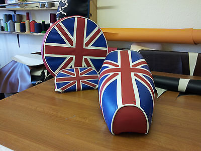 Vespa PX / LML Union Jack Full Set Elasticated Seat Cover