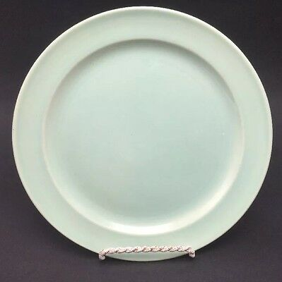"""Taylor Smith & Taylor Lu-Ray Pastels LUNCHEON PLATE Light Green 9 1/4"""" USA"""