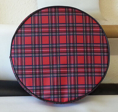 "Vespa / Lambretta 10"" Tartan And Black Wheel Cover"
