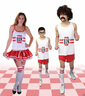 118 WOMEN/'S MEN/'S FANCY DRES COSTUME HEN DO STAG DOMARATHON RETRO VEST SHORT ®