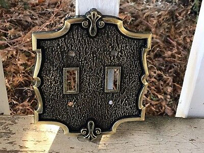 Bonaventure Collection Amerock Double Toggle Light Switch Cover Plate Vintage #3