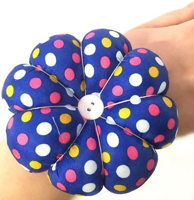 Sewing Pin Needles Round Arm Cushion ideal for Home Safety Craft Polka Dot