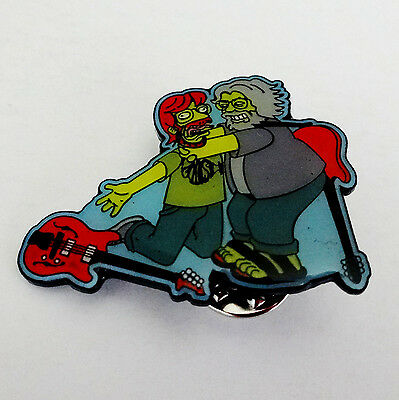Grateful Dead Pin Jerry Garcia The Simpsons Pinback Badge Mid 2010s Brand New