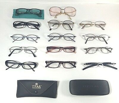 Vintage Readers Lot 14 Retro Eyeglasses Frames & Cases Laura Ashley Flexon Etc