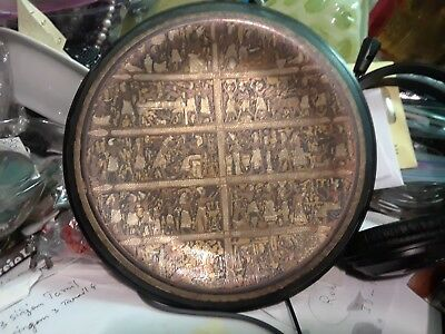 "Antique Greek Kingdom Ancient arts hand made Copperplate wall plaque 8"" - Rare"