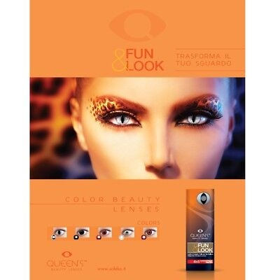 Lenti a Contatto Colorate giornaliere Queen,s Fun&Look carnevale, halloween, cap