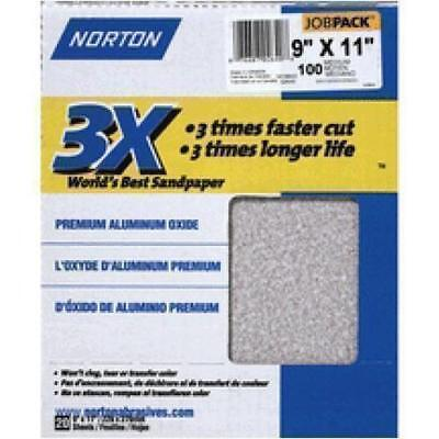"Norton ProSand A259 3X High Performance Sanding Sheet,11/"" X 9/"",100 Grit pk of 20"