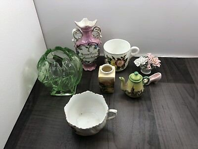 Vintage Ceramic German English Ornaments Glass Job Lot Please See All Pictures