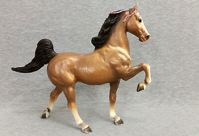 Vintage Breyer Molding Co Brown Stallion Prancing Horse Collectible Made In USA