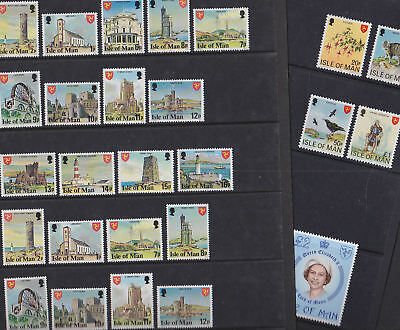 Isle of Man 1978-81 Mint MNH Definitives Local Scenes QEII Viking Tower Laxey