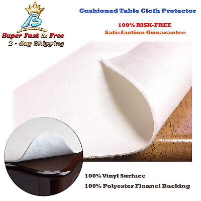 Dining Cushioned Table Pad Protector With Flannel Backing Desk Hot Tea Pads New