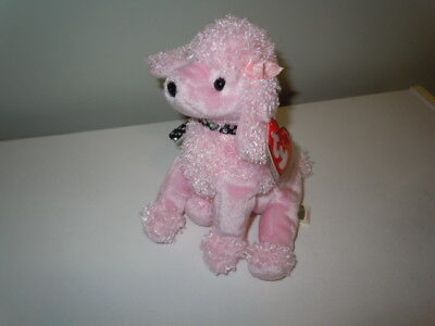 Brigitte the Pink Poodle Dog TY Beanie Baby With Tag April 20, 2000 Retired
