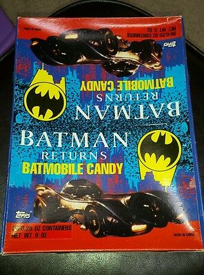 Topps Batman Returns 1991 batmobile candy BOX ONLY