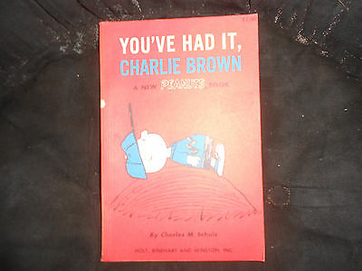 You've Had It, Charlie Brown, Peanuts Book, pb, First Printing 1969, VG cond.
