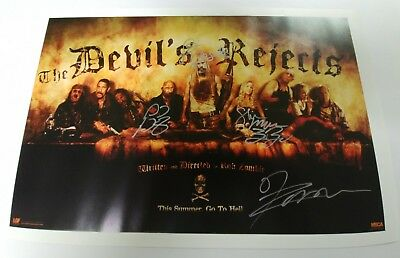 The Devil's Rejects poster signed Sid Haig Bill Moseley Shirley Moon Rob Zombie