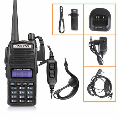 Baofeng UV-82 VHF/UHF MHz Dual-Band Ham Walkie Talkies Two-way EU Adapter