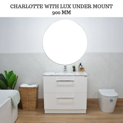 900 mm Natural Marble Bathroom Vanity Cabinet Unit with Long handles Melbourne