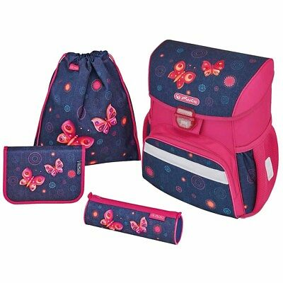 Herlitz Schulranzen Loop Plus Butterfly Dreams Schmetterlinge Ranzen 4-er Set
