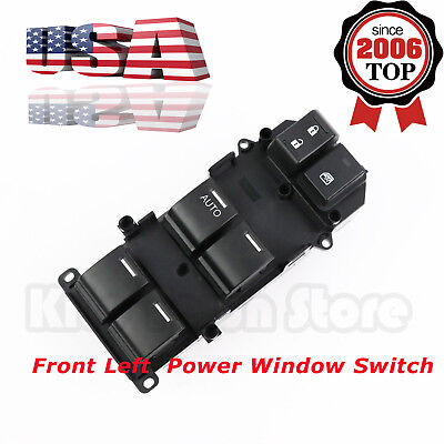 Power Window Master Control Switch Front Left Driver Side For 08-12 Honda Accord